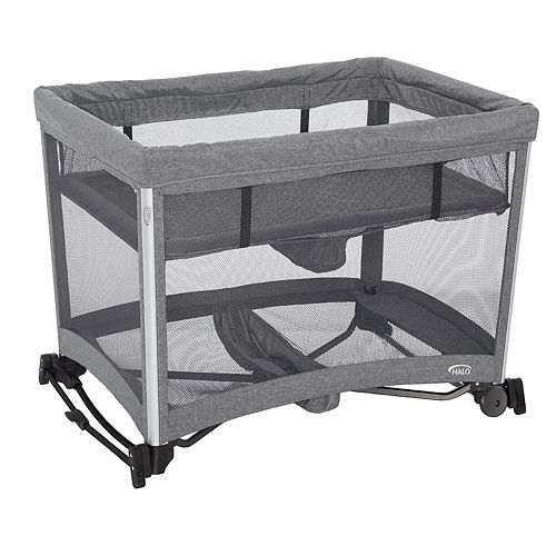 Halo 3-in-1 DreamNest Rocking Bassinet, Portable Crib, Travel Cot with Breathable Mesh Mattress