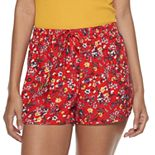 Juniors' Pink Republic Soft Woven Shorts