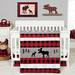 Trend Lab Lumberjack Moose 3 Piece Crib Bedding Set