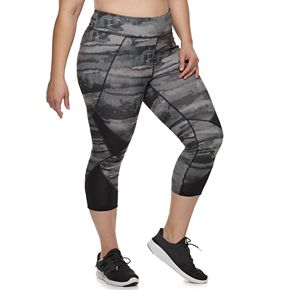 Plus Size Tek Gear® Mesh Capri Legging