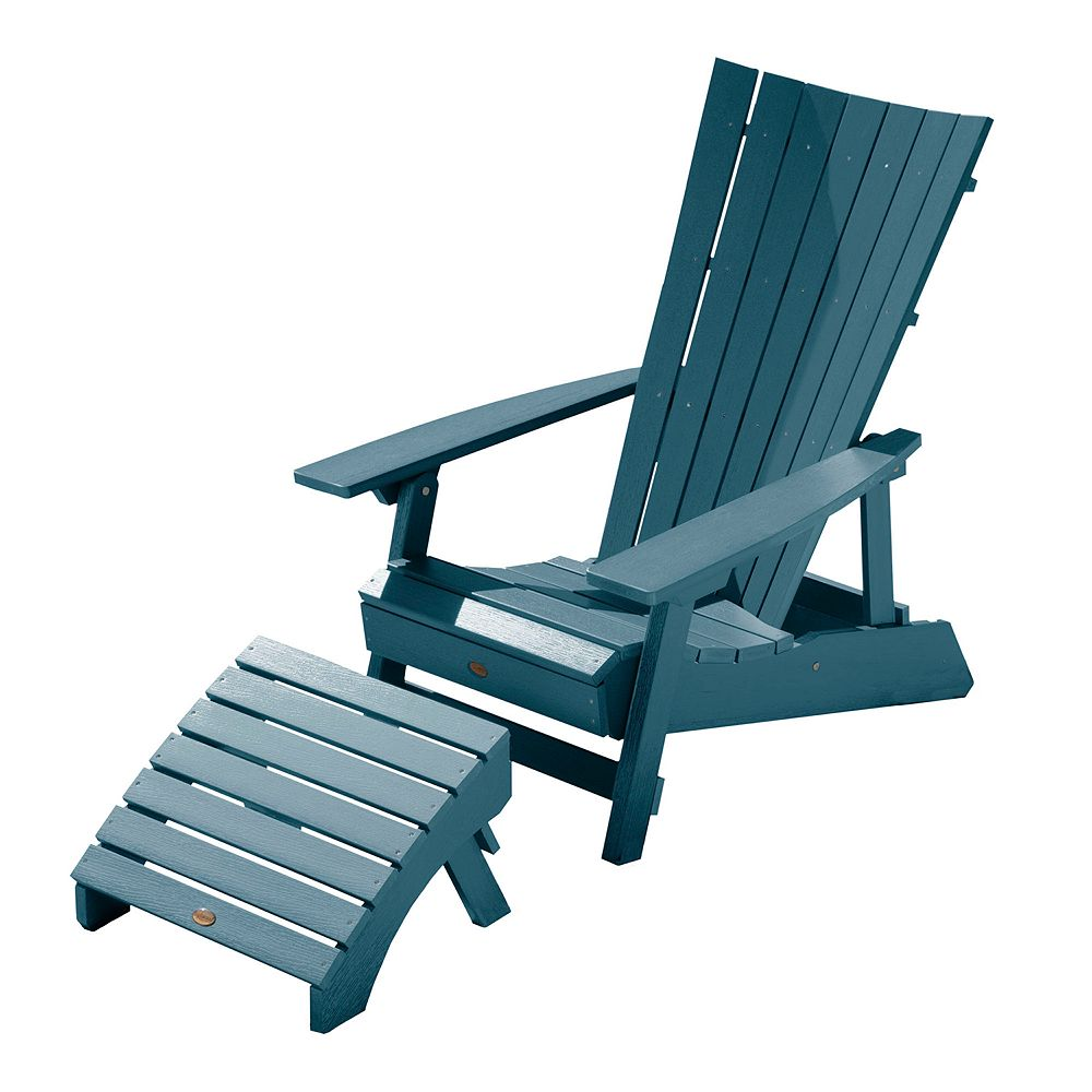 Highwood Manhattan Beach Folding & Reclining Adirondack Chair with Ottoman