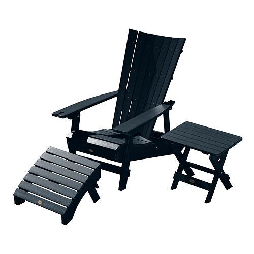Sensational Highwood Manhattan Beach Adirondack Chair With Folding Ottoman Ibusinesslaw Wood Chair Design Ideas Ibusinesslaworg