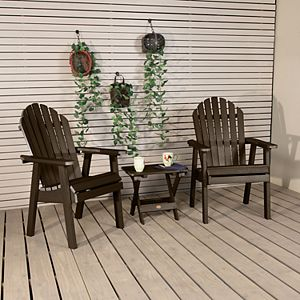 highwood 2 Hamilton Deck Chairs with 1 Folding Side Table
