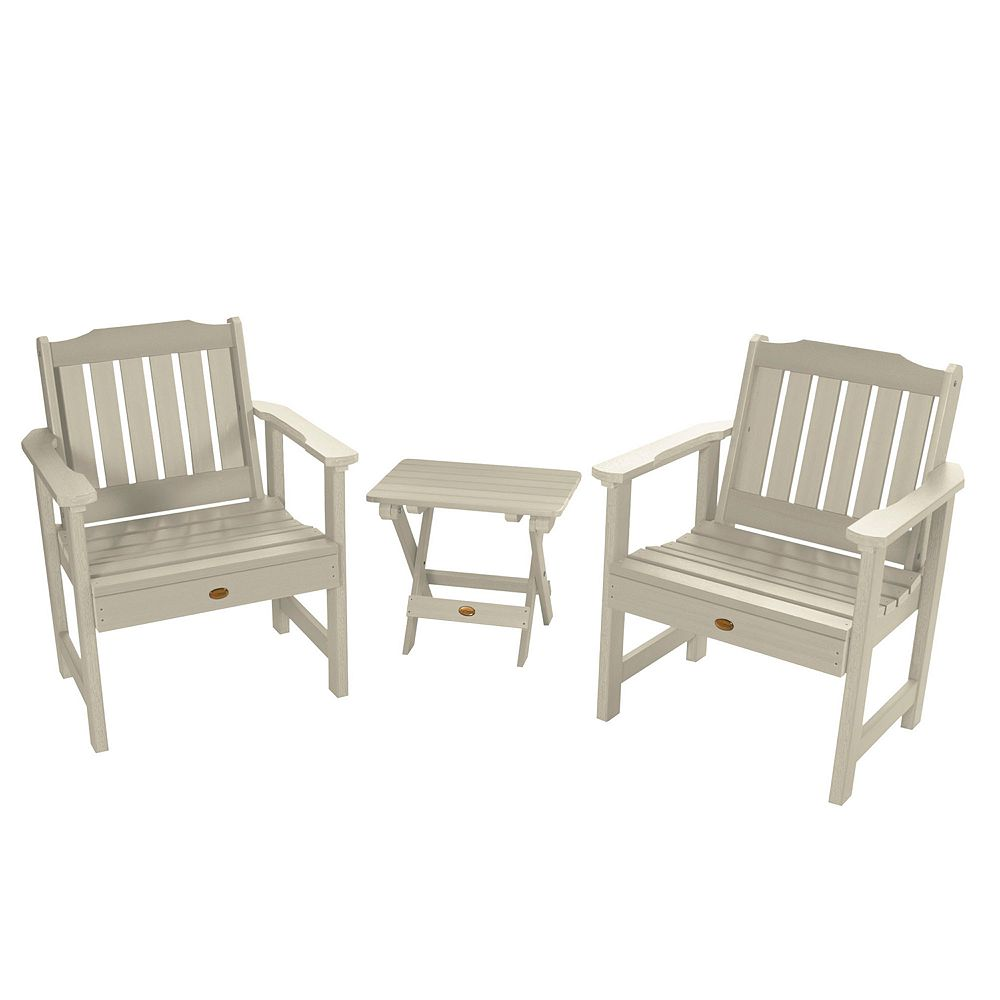 highwood 2 Lehigh Garden Chairs with 1 Folding Side Table