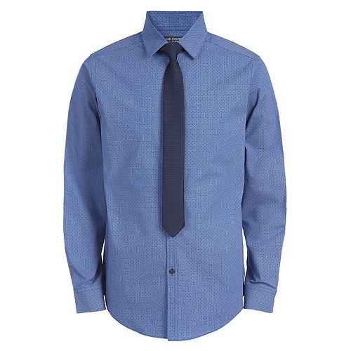 Boys 4-20 Van Heusen Stretch Duo-Tone Shirt & Tie