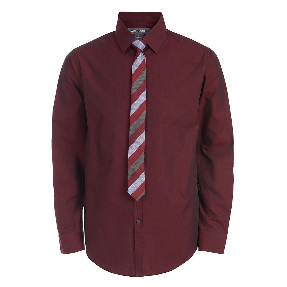 Boys 4-20 Van Heusen Stretch Duo-Tone Shirt & Tie