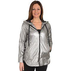 Women's Fleet Street Hooded Metallic Jacket