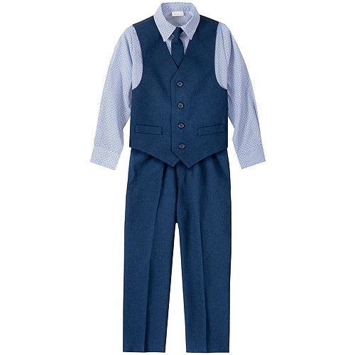 Boys 4-12 Van Heusen Poplin 4-Piece Vest Set