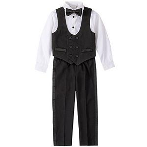 Boys 4-20 Van Heusen Formal Tuxedo 4-Piece Vest Set