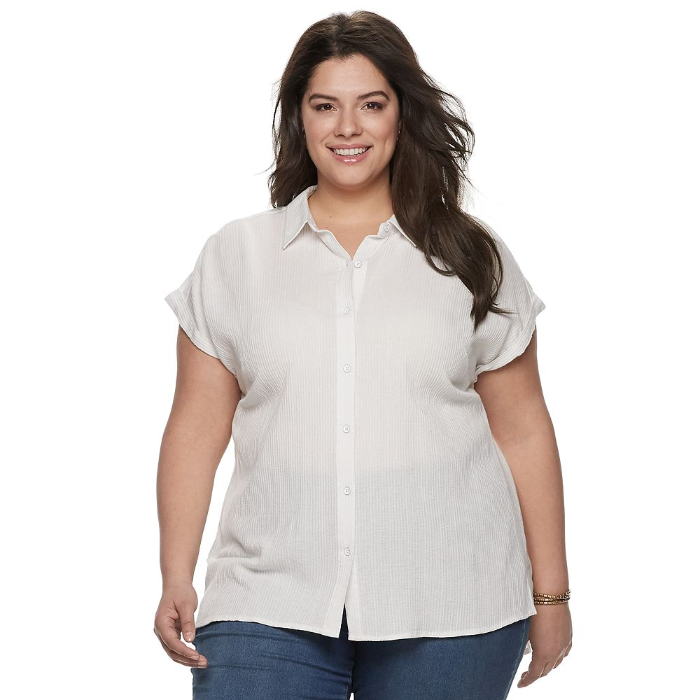 Plus Size SONOMA Goods for Life® Dolman Camp Shirt
