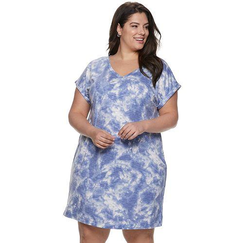 Plus Size SONOMA Goods for Life™ Dolman T-Shirt Dress