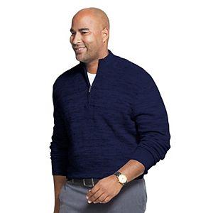 Big & Tall Van Heusen Flex Quarter-Zip Sweater