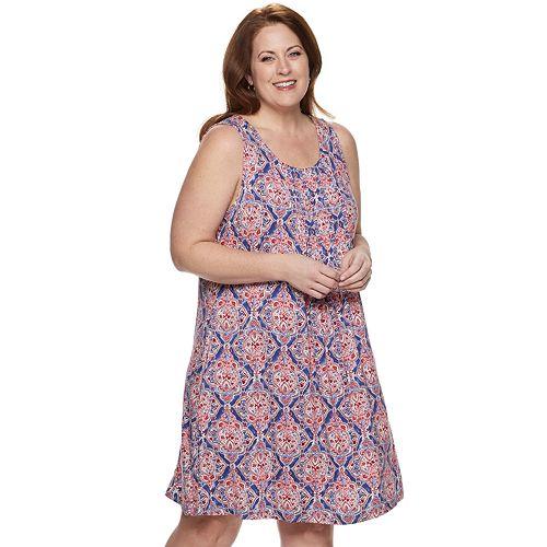 Plus Size Croft & Barrow® Pintuck Tank Dress