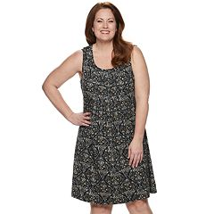 4130a92553704 Plus Size Croft & Barrow® Pintuck Tank Dress