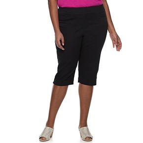 Plus Size Croft & Barrow® Effortless Stretch Skimmer Capris