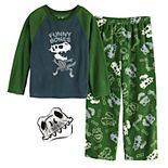 Boys 6-12 Up-Late Space 2-Piece Pajamas & Mask Set
