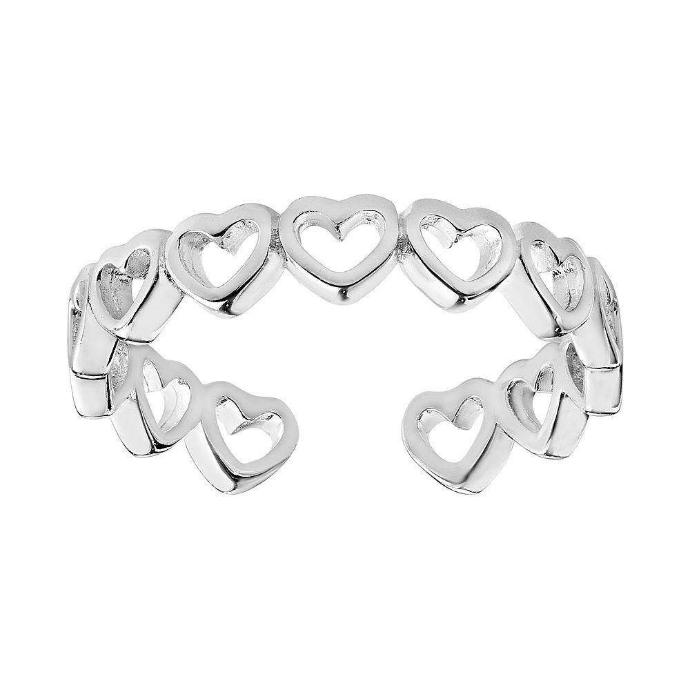 Primrose Sterling Silver Heart Toe Ring