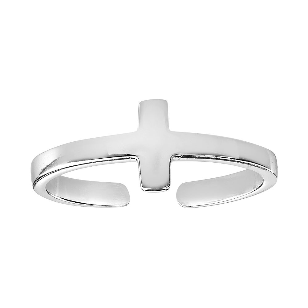 Primrose Sterling Silver Cross Toe Ring