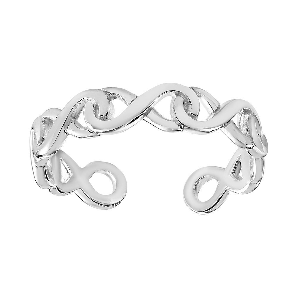 PRIMROSE Sterling Silver Interlocking Infinity Toe Ring
