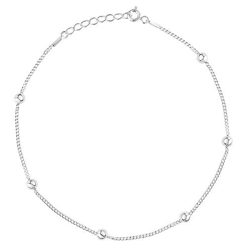 Primrose Sterling Silver Chain Anklet