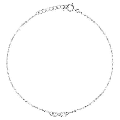 Primrose Sterling Silver Infinity Anklet