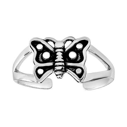 Primrose Sterling Silver Butterfly Toe Ring