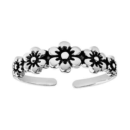 Primrose Sterling Silver Flower Toe Ring