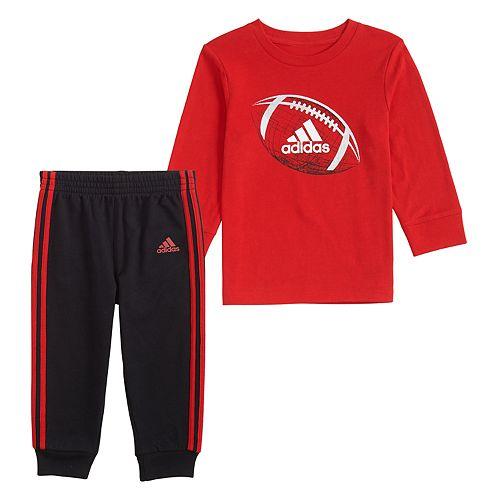 Baby Boy adidas Cotton Tee & Jogger Set