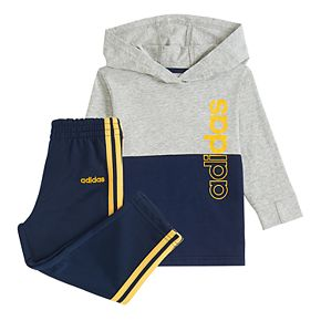 Baby Boy adidas Cotton Hoodie and Pant Set