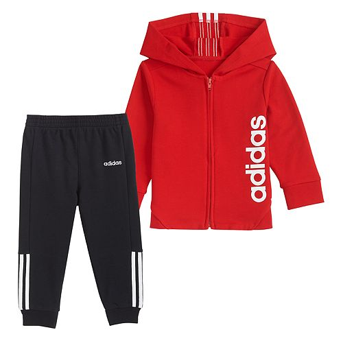 Baby Boy adidas Full-Zip Jacket & Pants Set