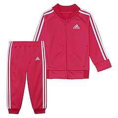 56691ac8ec Toddler Girl adidas Tricot Jacket & Pants Set. Magenta Black