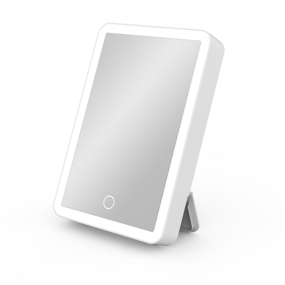 iHome Portable Lighted Vanity Mirror with Bluetooth Speaker