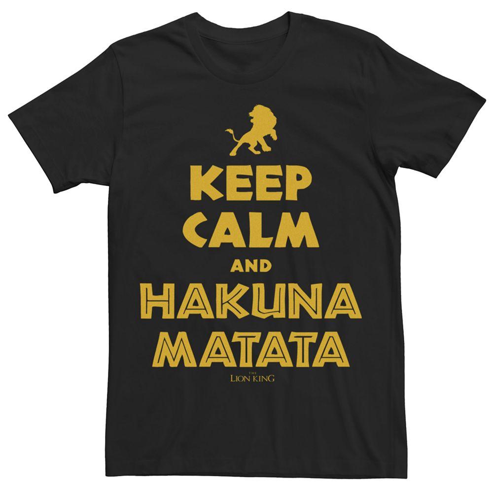 Men's Disney Lion King Keep Calm And Hakuna Matata Tee