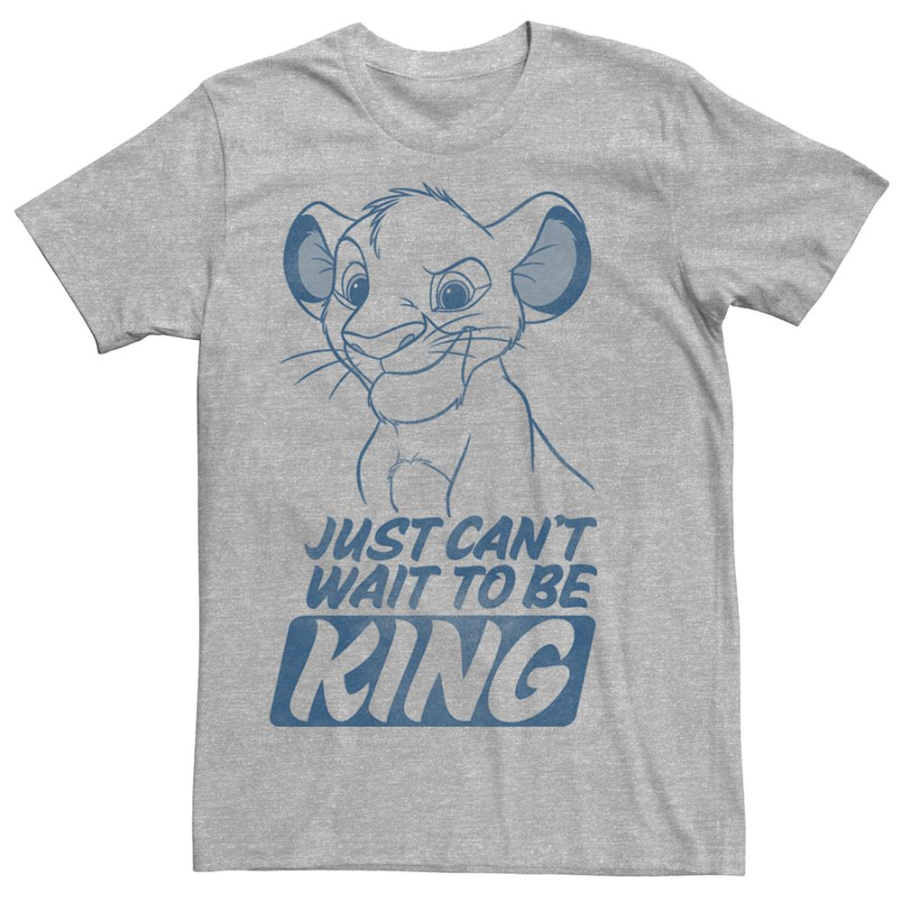 Men's Disney Lion King Young Simba Outline Tee