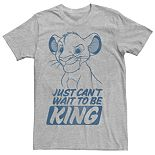 Men's Disney Lion King Young Simba Outline Tee