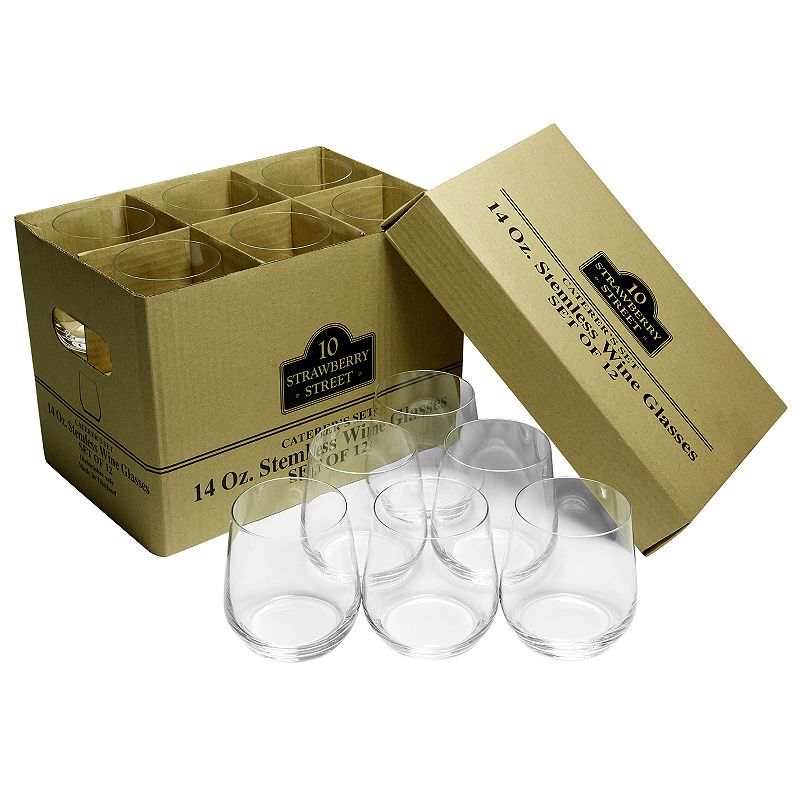 10 Strawberry Street Stemless Wine Glass Catering 12-pk.