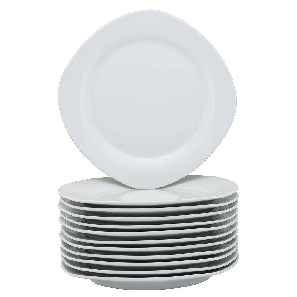 10 Strawberry Street 12-pc. Square Dinner Plate Set