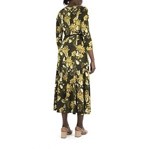Women's Nina Leonard Sylvia Print Midi Dress