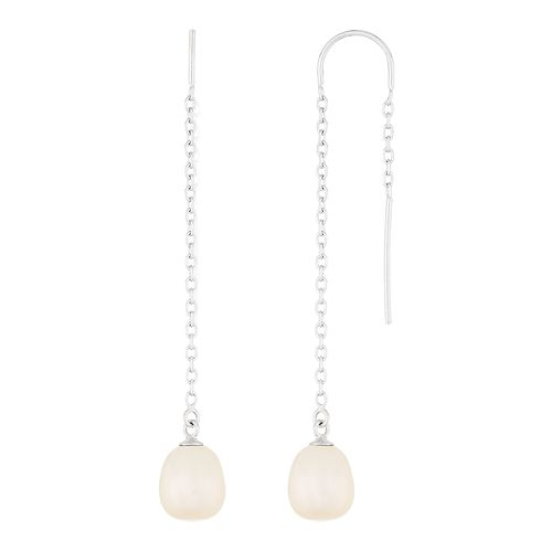 Sterling Silver Freshwater Cultured Pearl Threader Earrings