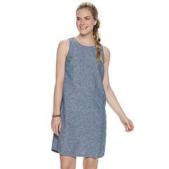 Women's SONOMA Goods for Life™ Linen-Blend Button-Back Shift Dress