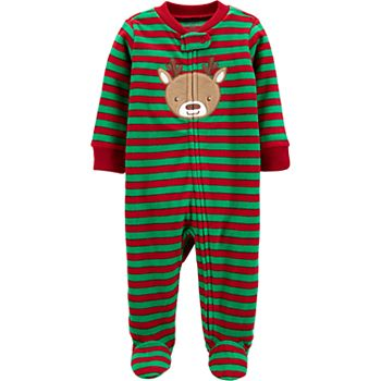 Carters Boys 1-Piece Reindeer Fleece PJs Red//Black Reindeer 24 Months