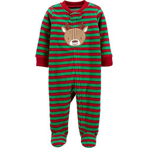 Baby Boy Carter's Reindeer Zip-Up Fleece Sleep & Play