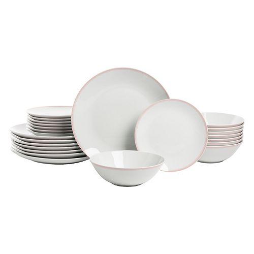 10 Strawberry Street Simply Coupe 24-pc. Dinnerware Set