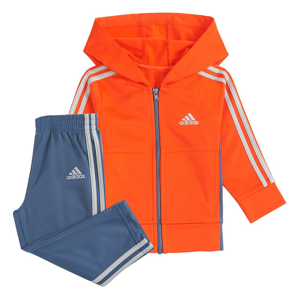 Boys 4-7 adidas Hooded Jacket Tricot Set