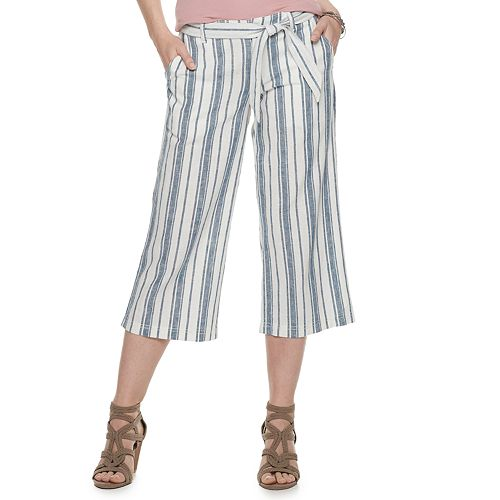 82bf32bfc0 Women's SONOMA Goods for Life™ Linen-Blend Wide-Leg Crop Pants