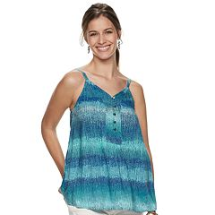 7a36371b691e5 Women s SONOMA Goods for Life™ Button-Front Tank