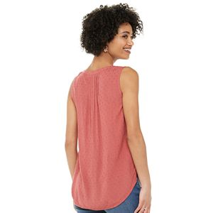 Women's SONOMA Goods for Life® 3-button Pintuck Tank