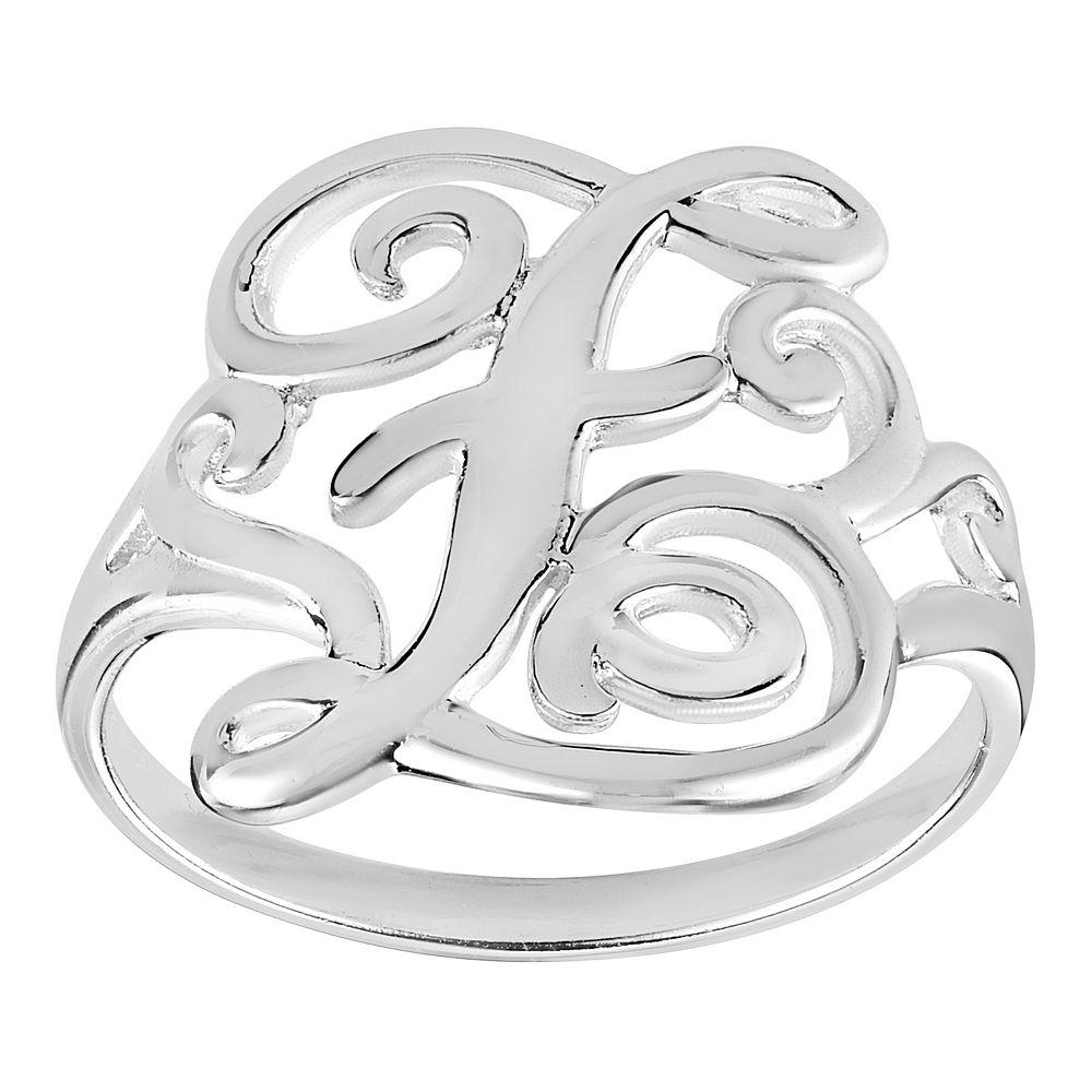 PRIMROSE Sterling Silver Initial Ring