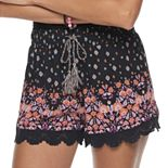 Juniors' Mudd® Smocked Waistband Shorts