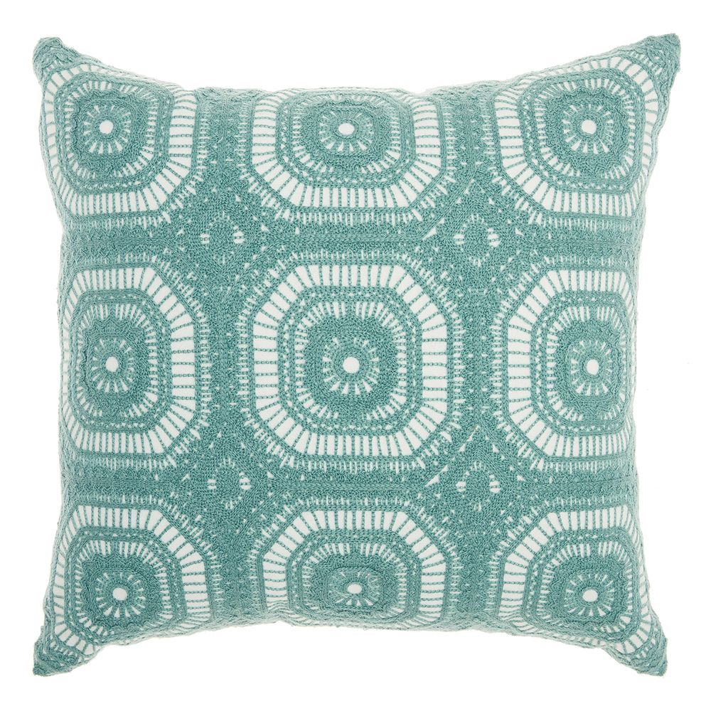 Mina Victory Crochet Tiles Throw Pillow